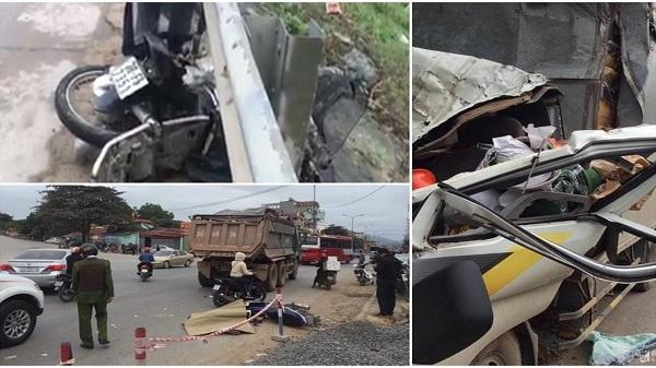 Tai nạn giao thông nóng nhất 24h: Cán bộ xã bị ôtô tông trúng văng xa 15m