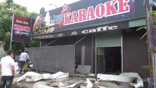 Cháy quán Karaoke nằm sát quốc lộ 5, Hải Dương