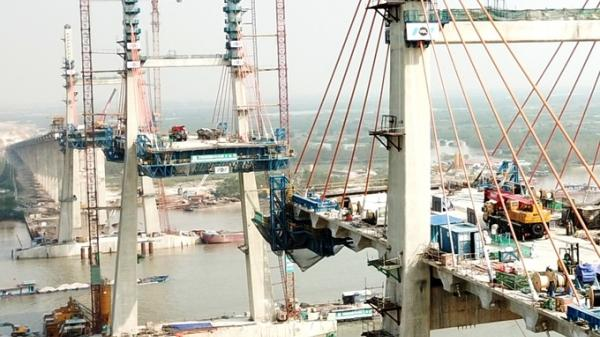 Toàn cảnh thi công cây cầu hơn 7.000 tỷ nối Quảng Ninh và Hải Phòng