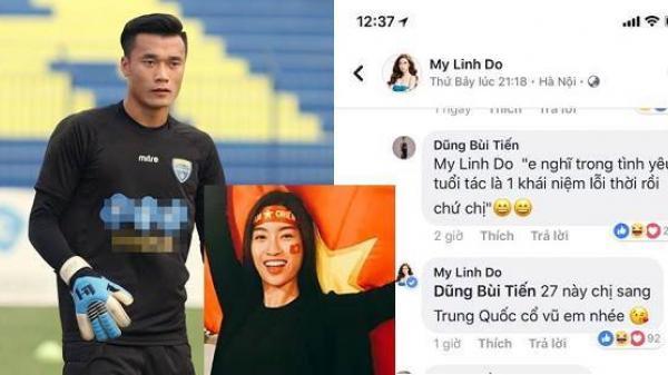 Bùi Tiến Dũng nhắn Hoa hậu Đỗ Mỹ Linh: 'Tình yêu không có khái niệm tuổi tác'