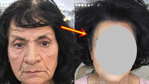 Cụ bà 80 tuổi trẻ như U40 nhờ bàn tay của phù thủy trang điểm