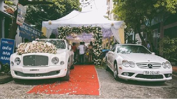 Siêu xe sang Bentley Mulsanne tiền tỷ rước dâu tại Hải phòng