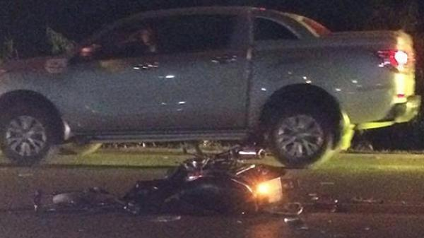 Chạy tốc độ cao, xe máy tông trực diện ô tô khiến 2 người tử vong hướng Hải Phòng - Uông Bí