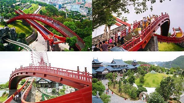 Cầu Koi phong cách Nhật siêu đẹp ở Hạ Long, đảm bảo ngắm là phải đi