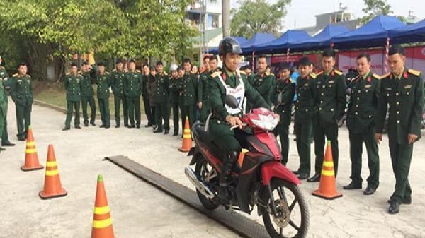 Hải Phòng: Tập huấn kỹ năng lái xe an toàn cho đoàn viên, thanh niên khối quân sự