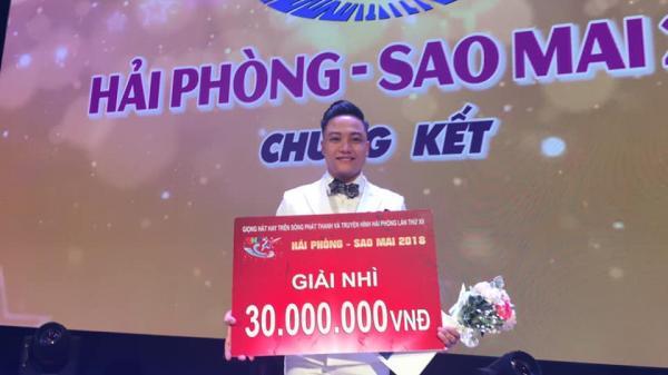 Nguyễn Đức Tùng quê Nam Định xuất sắc giành giải nhì cuộc thi Hải Phòng - Sao Mai 2018