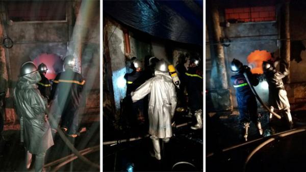 Ba gian nhà bị lửa thiêu trong đêm, 2 cháu bé quê Nam Định bị thương