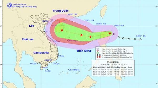 TIN KHẨN CẤP: Bão Khanun giật cấp 12 áp sát Hoàng Sa, không khí lạnh đang tràn vào