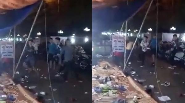 Clip: Hàng chục thanh niên hỗn chiến trong đêm ở Hải Phòng