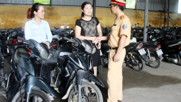 Hải Phòng: Nhận lại xe máy sau 2 năm bị mất cắp