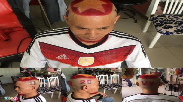 Người Hàn Quốc ấn tượng với kiểu tóc lạ của fan Việt Nam