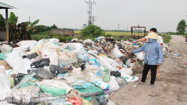 Châu Giang: Rác thải dồn ứ, chất đống ở khu vực Trạm bơm Bút 1