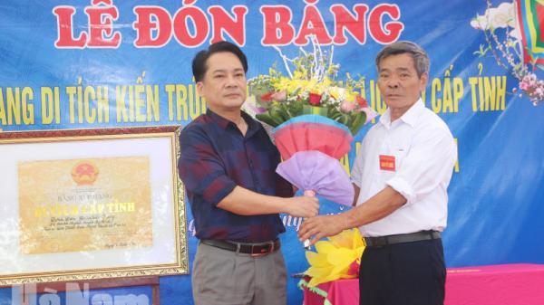Cụm di tích đình làng Tầu Giang, Lý Nhân đón nhận Bằng di tích cấp tỉnh