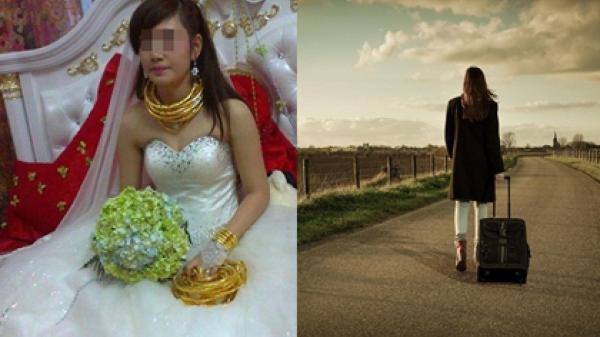 Sau đám cưới vàng đeo trĩu cổ, cô dâu cay đắng rời khỏi nhà chồng