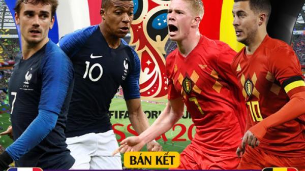 """Hạ Bỉ với bàn bàn thắng """"định mệnh"""", Pháp chính thức giành vé đầu tiên vào chung kết World Cup 2018"""