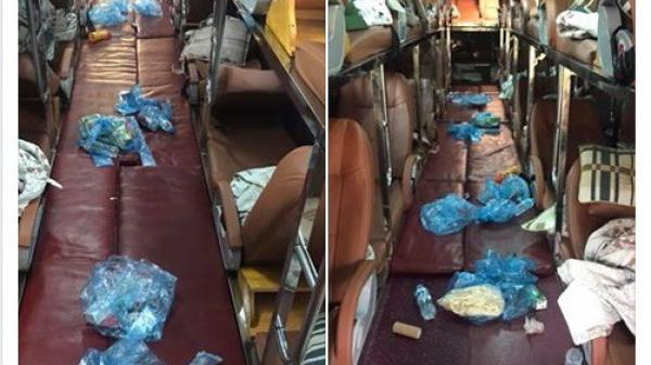 Chuyến xe đầy rác do hành khách vứt lại gây tranh cãi: Khách thiếu ý thức có phải do nhà xe nhồi nhét quá nhiều người?