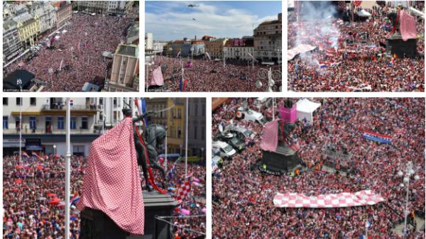 Biển người chào đón Á vương Croatia về nước sau hành trình kỳ diệu ở World Cup 2018