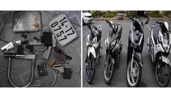 Thu các loại 'đồ nghề' của 3 đối tượng người Hải Dương trộm xe máy liên tỉnh