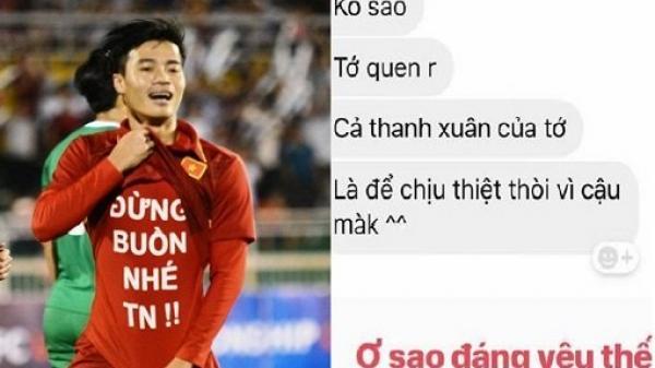 Lộ tin nhắn giữa Văn Toàn và bạn gái xinh đẹp quê Hà Nam khiến fan 'l.ụi tim'