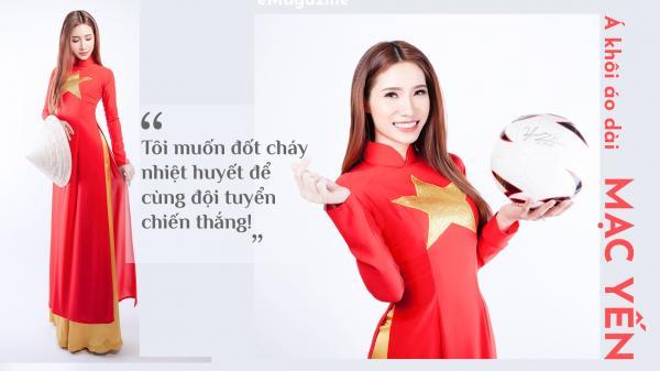 Á khôi áo dài quê Hà Nam tung bộ ảnh nóng bỏng ủng hộ thầy trò Quang Hải