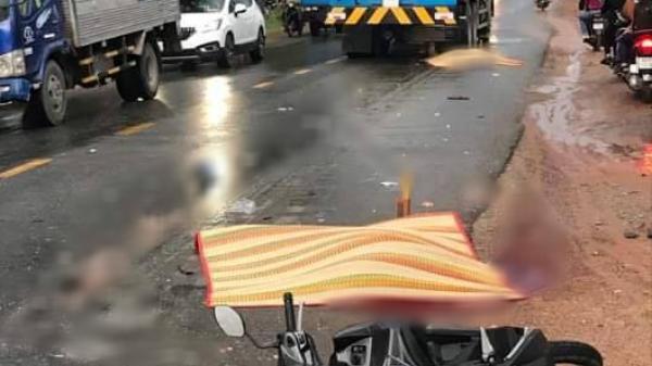 THƯƠNG TÂM: Mua xe máy chưa kịp lấy biển số, 2 vợ chồng v.a chạm với xe bồn t.ử v.ong