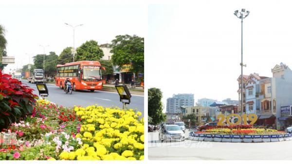 Hà Nam: Thành phố Phủ Lý ngập tràn hoa và cờ trang hoàng đón ngày đại lễ