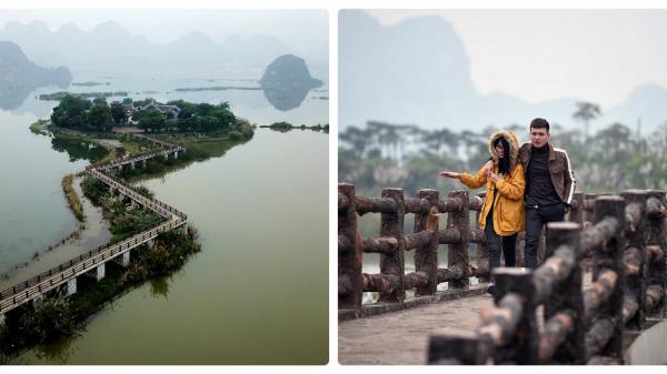 Hà Nam: Cận cảnh chùa Tam Chúc- ngôi chùa lớn nhất Việt Nam với bí ẩn 6 quả núi giữa lòng hồ