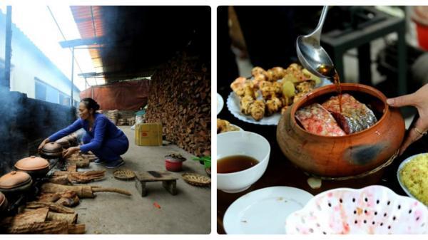 Hà Nam: Bếp niêu kho cá làng Vũ Đại rực lửa ngày cận Tết