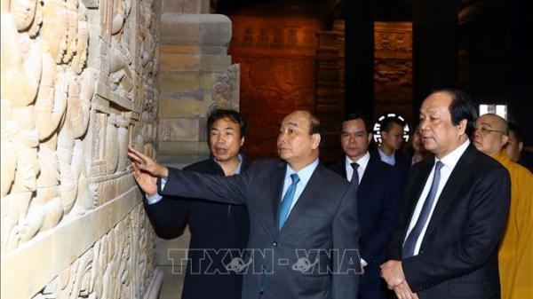 Thủ tướng về chùa Tam Chúc (Hà Nam) kiểm tra công tác chuẩn bịĐại lễ Vesak 2019