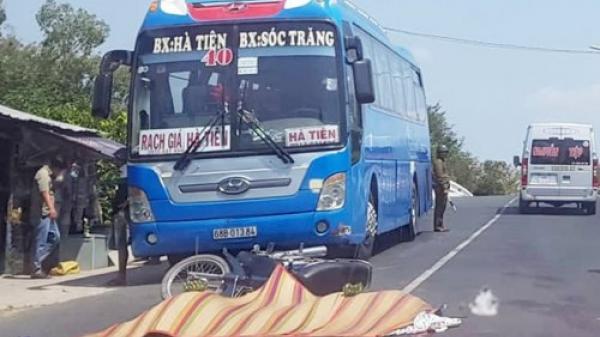 Kiên Giang: Cha chồng và con dâu bị xe bồn c.án t.ử v.ong