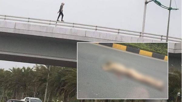 Cô gái k.hỏa thân rơi từ cầu vượt gần sân bay Nội Bài xuống đất t.ử vong