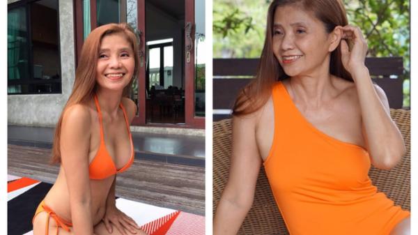 """""""Chị đại U60"""" khoe thân hình nóng bỏng với bikini làm dân mạng chao đảo"""
