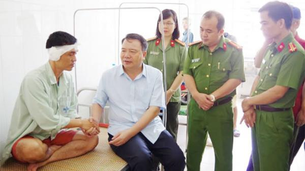 Hà Nam: Một cán bộ Công an bị tội phạm chém trọng thương