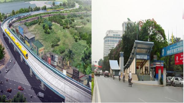 Phối cảnh các nhà ga tuyến Metro 1,7 tỷ USD ở Hà Nội