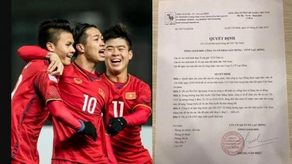 U23 VN vào chung kết, nhân viên được ăn mừng 3 đêm liền