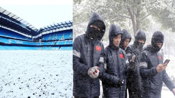 [NÓNG]: Khả năng hoãn chung kết U23 châu Á do mưa tuyết dày đặc