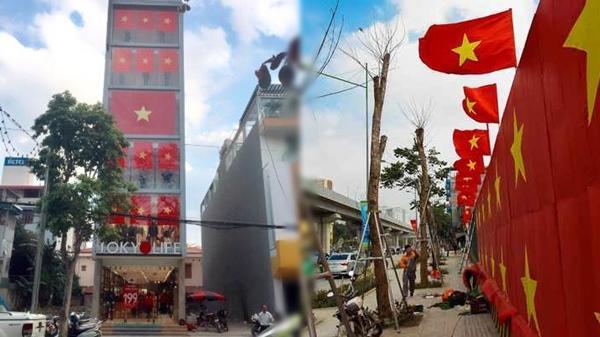 Trước thềm chung kết, Hà Nội tràn ngập cờ đỏ sao vàng cổ vũ U23 Việt Nam