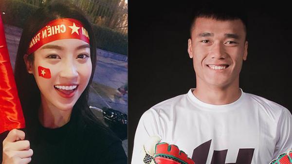 """U23 VN về nước: Hoa hậu Mỹ Linh làm gì khi gặp """"người nhện"""" Tiến Dũng?"""