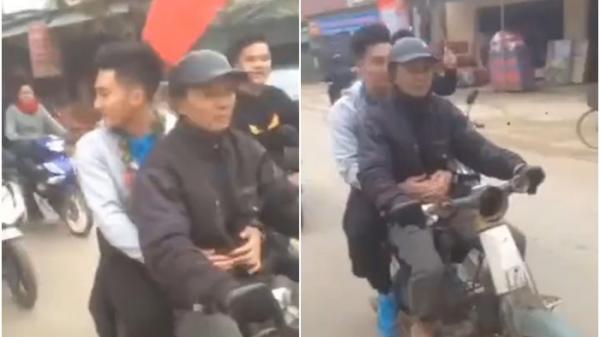 Bất chấp ô tô đưa đón, cầu thủ U23 Việt Nam theo bố lên xe máy cà tàng về nhà khiến triệu người cảm động
