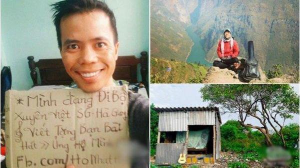 Chàng trai đi bộ xuyên Việt 113 ngày chỉ với 1 triệu đồng trong tài khoản