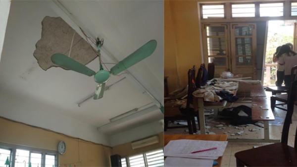 Hà Nội: Mảng vữa trần lớp học rơi trúng đầu, 3 học sinh trường THPT Trần Nhân Tông nhập viện