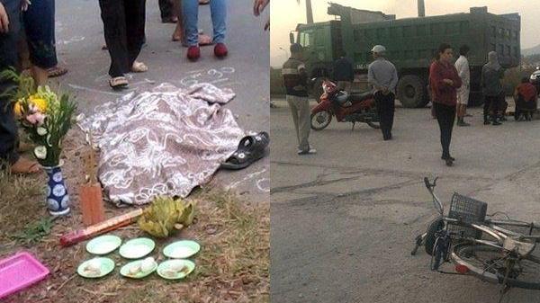 Chạy ra nhặt đồ rơi, bé trai 11 tuổi bị ô tô tải đâm tử vong