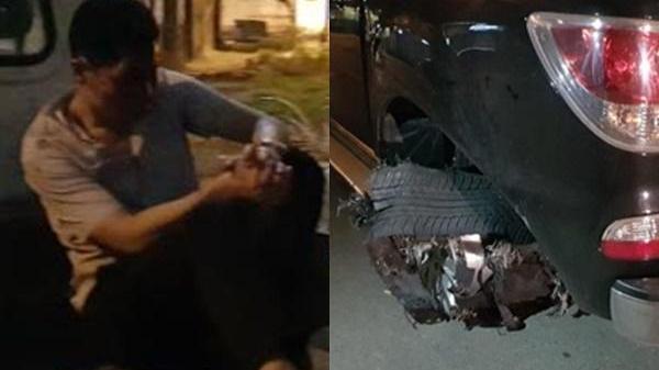 Vợ tài xế xe bán tải kéo lê người đàn ông hàng trăm mét yêu cầu công an điều tra việc chồng bị đánh đập