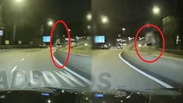 Lái xe về nhà lúc nửa đêm nhìn thấy cô gái mặc váy trắng đứng trên thanh chắn, khi xem lại camera hành trình liền lạnh sống lưng