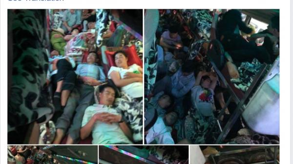 Kinh hãi cảnh đi xe khách mùa nghỉ lễ chỉ có 28 giường nằm mà nhét tới 60 khách khiến ai cũng ngộp thở