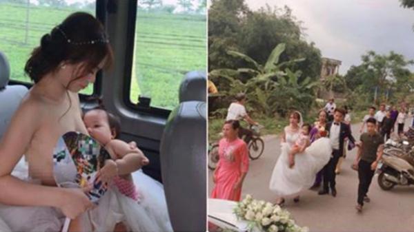 'Cô dâu cho con bú trên xe hoa' – Bức ảnh khiến ai cũng thấy rưng rưng xúc động lại có bí mật hậu trường thế này