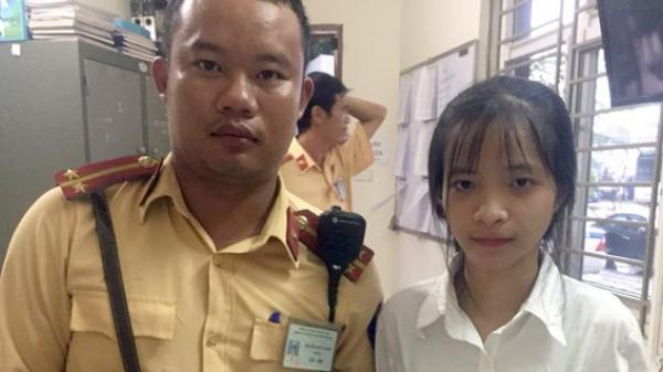 CSGT trả lại 20 triệu đồng cho nữ sinh xuống Hà Nội nhập học