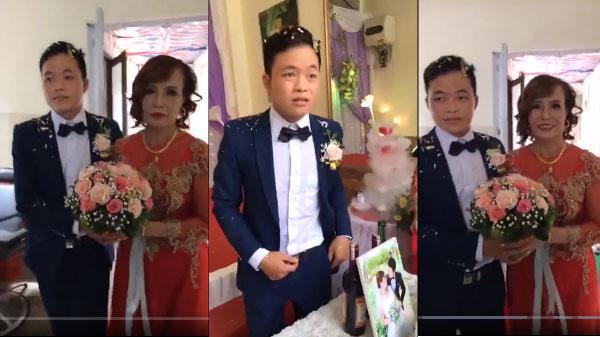 Trước giờ đón dâu, chú rể 26 đăng status lạ trên FB, bảo sao đi đón dâu mặt như mất sổ gạo