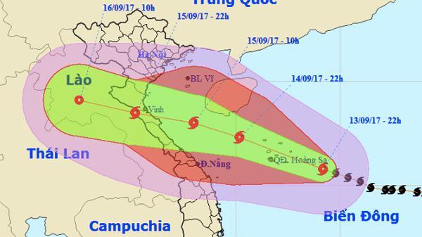 Bão số 10 có thể giật cấp 16, sóng tâm bão cao 10m