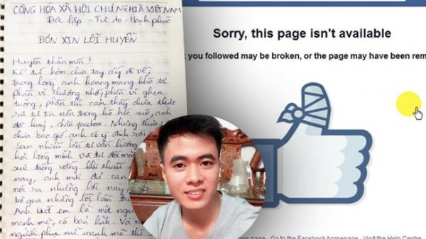 Chàng trai viết đơn xin lỗi vì lỡ... block Facebook bạn gái
